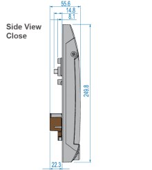 S-800 Side view close