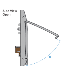 S-800 Side view open